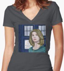 Doctor Whittaker Women's Fitted V-Neck T-Shirt