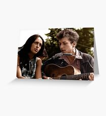 Bob Dylan & Joan Baez Colorized Greeting Card
