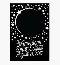 Solar Eclipse 2017 Shirt - The American Total Solar Eclipse Starfield - August 21, 2017 Photographic Print