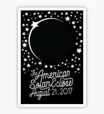 Solar Eclipse 2017 Shirt - The American Total Solar Eclipse Starfield - August 21, 2017 Sticker
