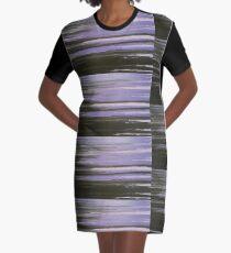 Purple Horizon Graphic T-Shirt Dress