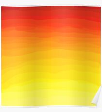 Red to Yellow Sunset  Poster