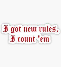 New Rules   Accessories Sticker