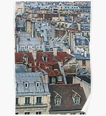 Rooftops of Paris #2 Poster