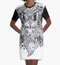 Hidden fox  Graphic T-Shirt Dress