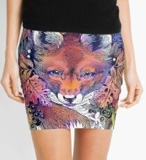 Rainbow Hiding Fox Mini Skirt
