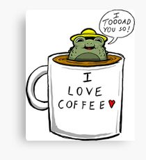 Coffee Toad Canvas Print