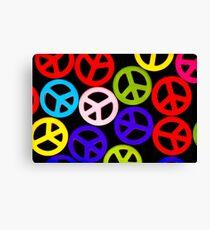 Contrast Peace Canvas Print