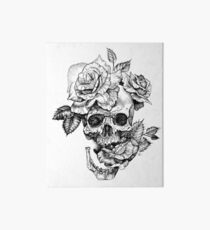 Skull And Roses Art Board