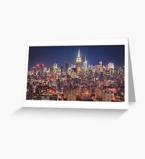 Dusk Over Empire State from Brooklyn Greeting Card