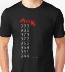 """Was ist 1000 Minus 7?"" Slim Fit T-Shirt"