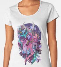 Mystischer Mitternachtsrosa-weißer Endstück Doe Frauen Premium T-Shirts