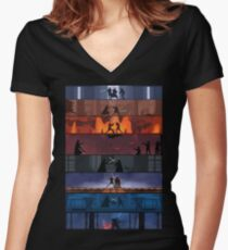 Star Wars Duels Women's Fitted V-Neck T-Shirt