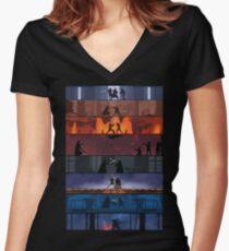 Camiseta entallada de cuello en V Duelos de Star Wars