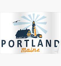 Portland Maine.  Poster