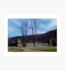 pricketts fort , civil war era Art Print