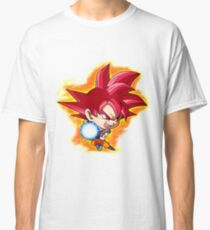 Goku Red God Chibi Classic T-Shirt