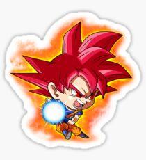 Goku Red God Chibi Sticker