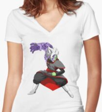 Black Goku Women's Fitted V-Neck T-Shirt