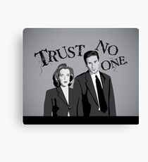 Trust No One Canvas Print