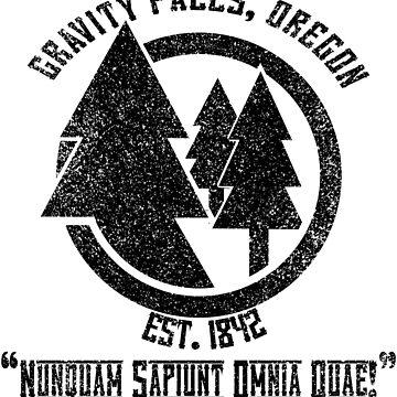 Gravity Falls Town Emblem & Motto by justanerd