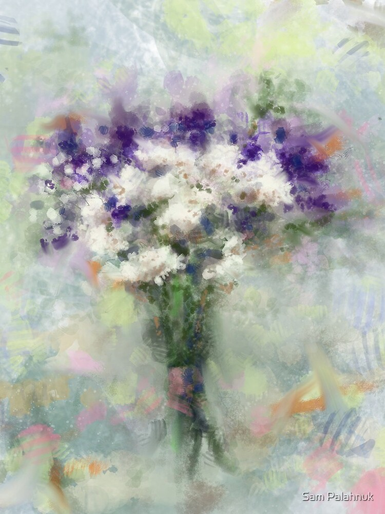 Abstract Floral Bouquet ~ Digital Illustration  by sampalahnukart
