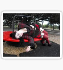 Goth Dolly - Black and Red Sticker