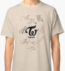 TWICE Signed - Black Text Classic T-Shirt
