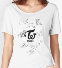 TWICE Signed - Black Text Women's Relaxed Fit T-Shirt