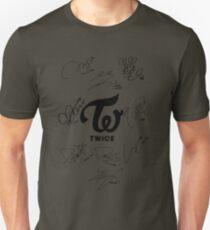 TWICE Signed - Black Text Unisex T-Shirt