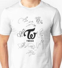TWICE Signed - Black Text Unisex T-Shirt