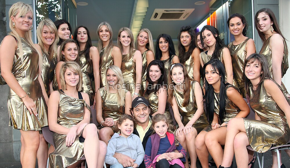 Vince Colosimo meets Finastlist of Miss italia-Australia by Rosina lamberti