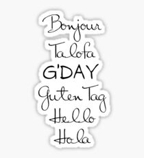 G'Day Sticker