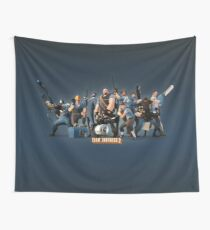 Team Fortress 2 blue logo Wall Tapestry