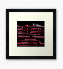 Donkey Kong [NES] remake Framed Print
