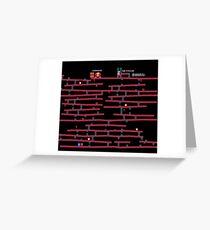 Donkey Kong [NES] remake Greeting Card