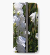 Rare White Harebell iPhone Wallet