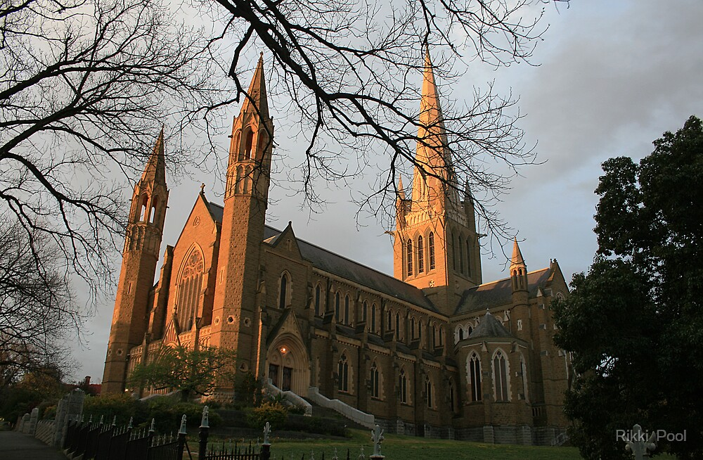 Bendigo's Sacred Heart Cathedral. by Rikki  Pool