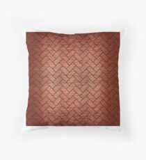 BRICK2 BLACK MARBLE AND COPPER BRUSHED METAL (R) Throw Pillow