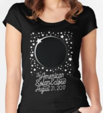 Solar Eclipse 2017 Shirt - The American Total Solar Eclipse Starfield - August 21, 2017 Women's Fitted Scoop T-Shirt