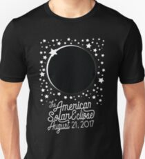 Solar Eclipse 2017 Shirt - The American Total Solar Eclipse Starfield - August 21, 2017 Unisex T-Shirt