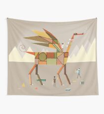 Cardboard Dragons Wall Tapestry