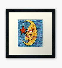 Sarcastic Moon  Framed Print