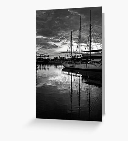 Tall ship at anchor Greeting Card