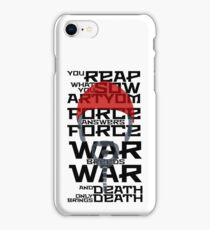 Khan Quote iPhone Case/Skin
