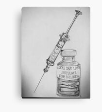 Books Save Lives: Inoculate Our Children  Canvas Print