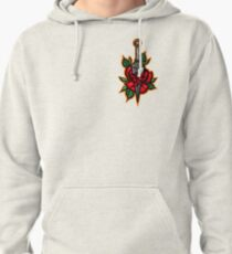 Naruto Konoha Kunai Through Rose Pullover Hoodie