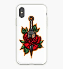 Naruto Konoha Kunai Through Rose iPhone Case