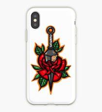 Naruto Konoha Kunai Through Rose iPhone Case
