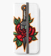Naruto Green Konoha Kunai Through Rose iPhone Wallet/Case/Skin